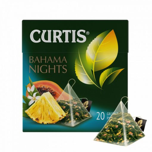 Curtis Bahama Nights prémium zöld szálas tea 20 filter 34g 158238