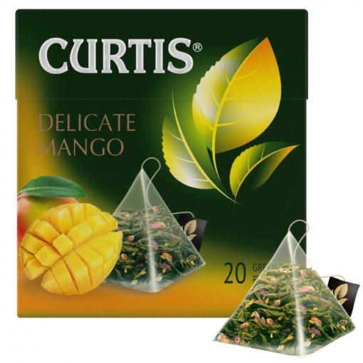 Curtis Delicate Mango prémium zöld szálas tea 20 filter 36g 851051