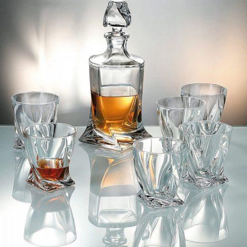 Bohemia kristály whisky szett 7 részes exkluzív dobozban