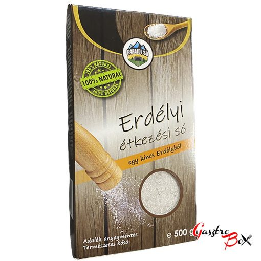 Parajdi étkezési só, 100% Natural, 500g