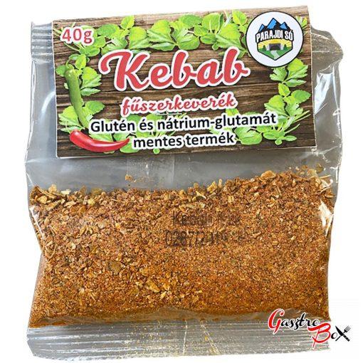 Kebab fűszerkeverék, 100% NATURAL, Glutén és nátrium-glutamát mentes termék 40g