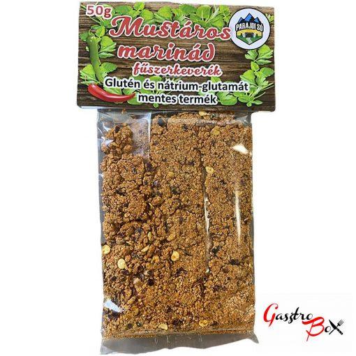 Mustáros Marinád fűszerkeverék, 100% NATURAL, Glutén és nátrium-glutamát mentes termék 50g