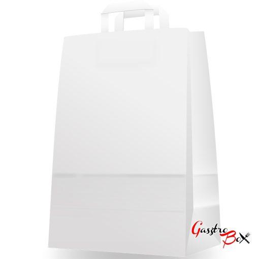 Papírtasak szalagfüles - fehér - 280×140×410 mm