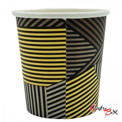 Papírpohár kávés Csíkos Design 240ml 50 db-os