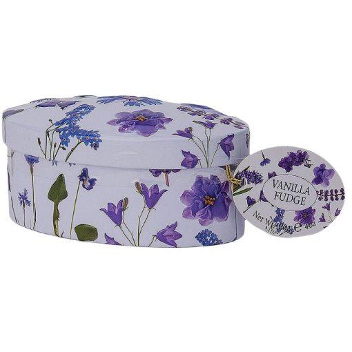 Gardiners Vanília Fudge Lila Virágos Fémdobozban 120g